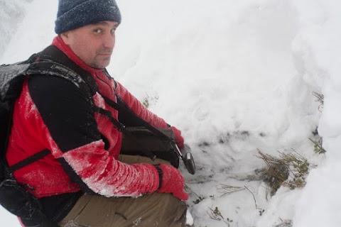 Rišo a GC2HMNP Skalisko pod 40-50cm snehu.