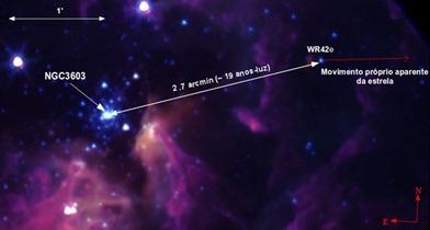 localização da estrela WR42e