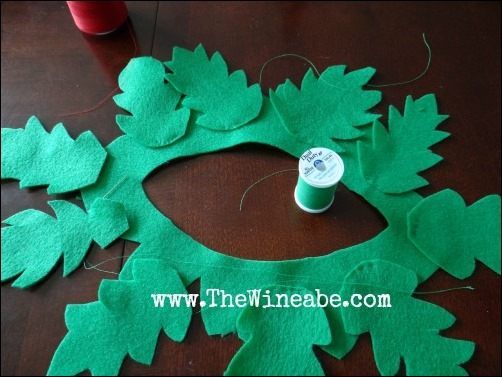 tomato vine collar DIY costume