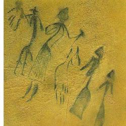 26 - Mujeres danzando alrededor de un hombre en Cogull (Lleida)