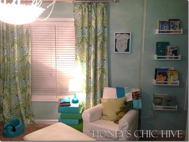 Gender Neutral Nursery blue and green baby room