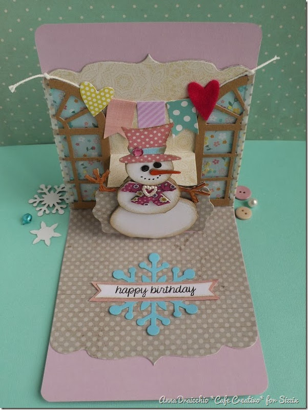 cafe creativo - Anna Drai - sizzix big shot - winter birthday card pop up (2)