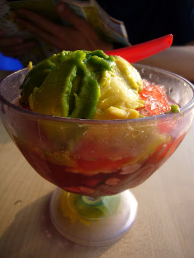 Avocado Ais Kachang (more popularly known as Avacado ABC)