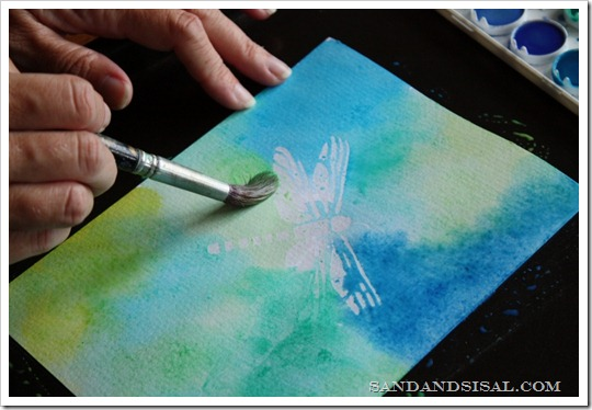 watercolor resist art