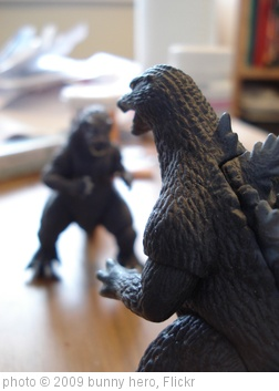 'godzillas squaring off' photo (c) 2009, bunny hero - license: http://creativecommons.org/licenses/by-sa/2.0/