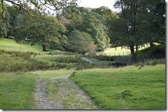 Hill top walk--wrong, but nice, path