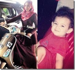 Shila Amzah naik motosikal