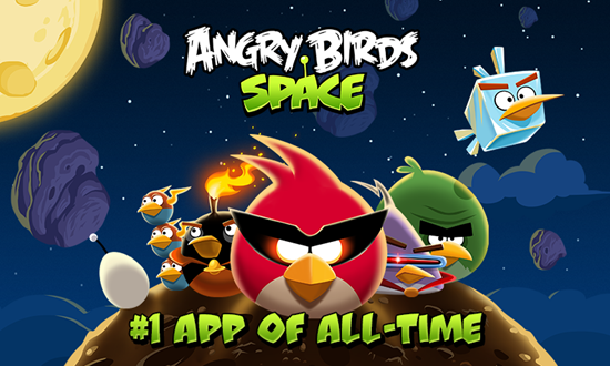 Angry Birds Space features 150 interstellar levels on planets and in zero gravity