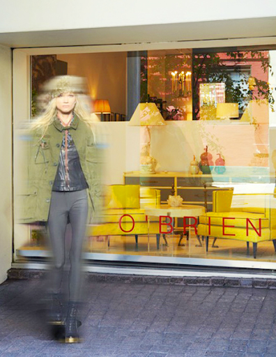 The new store exterior; this image captures the positive energy that reverberates from her collections.