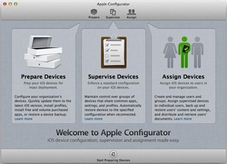 Apple Configurator for iPad and iPhone