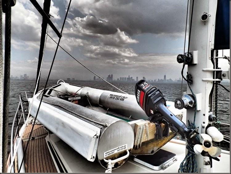 entering manila harbor phillippines sailboat