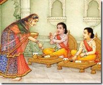 Lakshmana and Rama eating