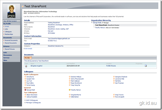 SharePoint, My Site and Managing User Profile Properties – Part 2/2