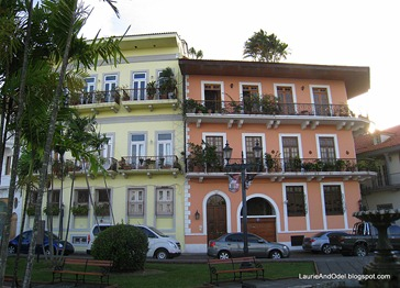 Renovated buildings in Casco Viejo