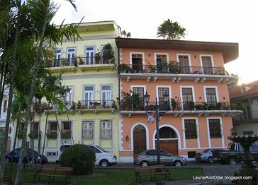 Renovated buildings in Casco Viejo