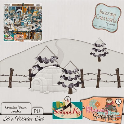 MMTS & TSK - Its Winter Out - Border Freebie Preview