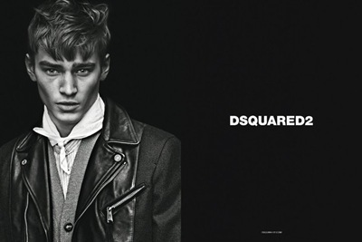 Bo Develius by Mert & Marcus for DSquared2 F/W 2011-12 campaign