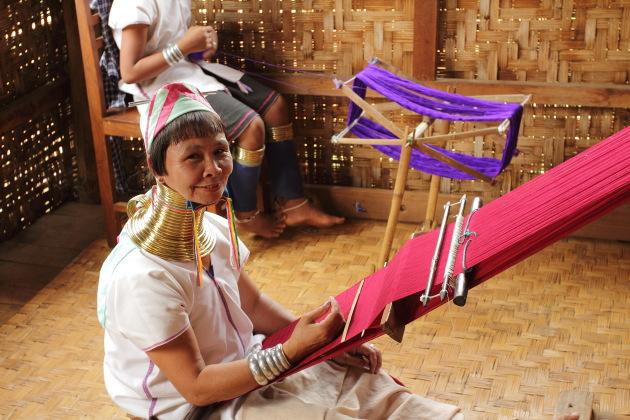 Long Necked Karen Women of Inle Lake, Burma