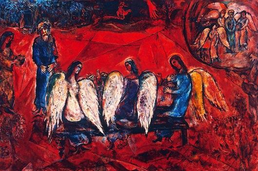 Chagall abraham angels