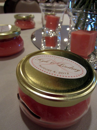 peach wedding favors