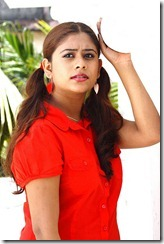 priyalal in red dress
