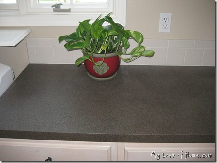 spray paint laminate, red potted plant