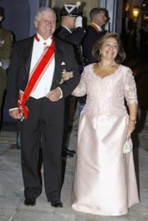 Los príncipes de Serbia Alejandro II y Katherina