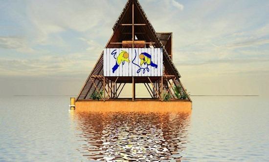 Escolas flutuantes da Nigéria 10