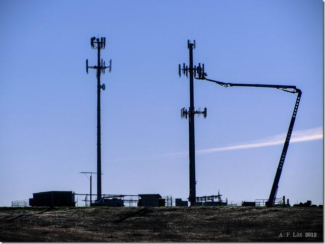 Tower Repair  Sloughouse, California.  December 20, 2012.