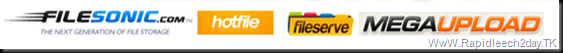 Filesonic, Fileserve, Hotfile and Megaupload