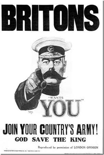 Lord Kitchener Wants You. Join Your Country's Army! God save the King.