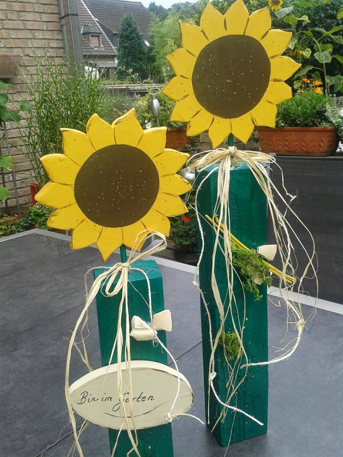 Der Holzwurm: Meine ersten Sonnenblumen