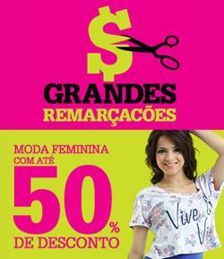 Lojas Marisa: Grandes Remarcações com até 50% de desconto.