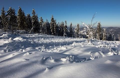 Spálenica, na hrebeni Volovských vrchov.