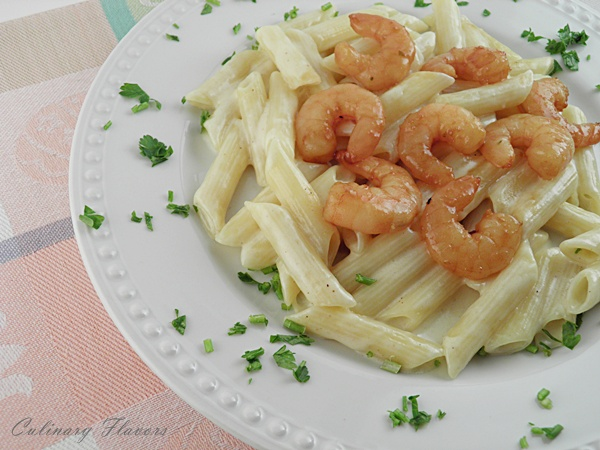 Pasta Alfredo with Shrimps.JPG