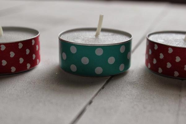 DIY Washi Tape Tealight Candles