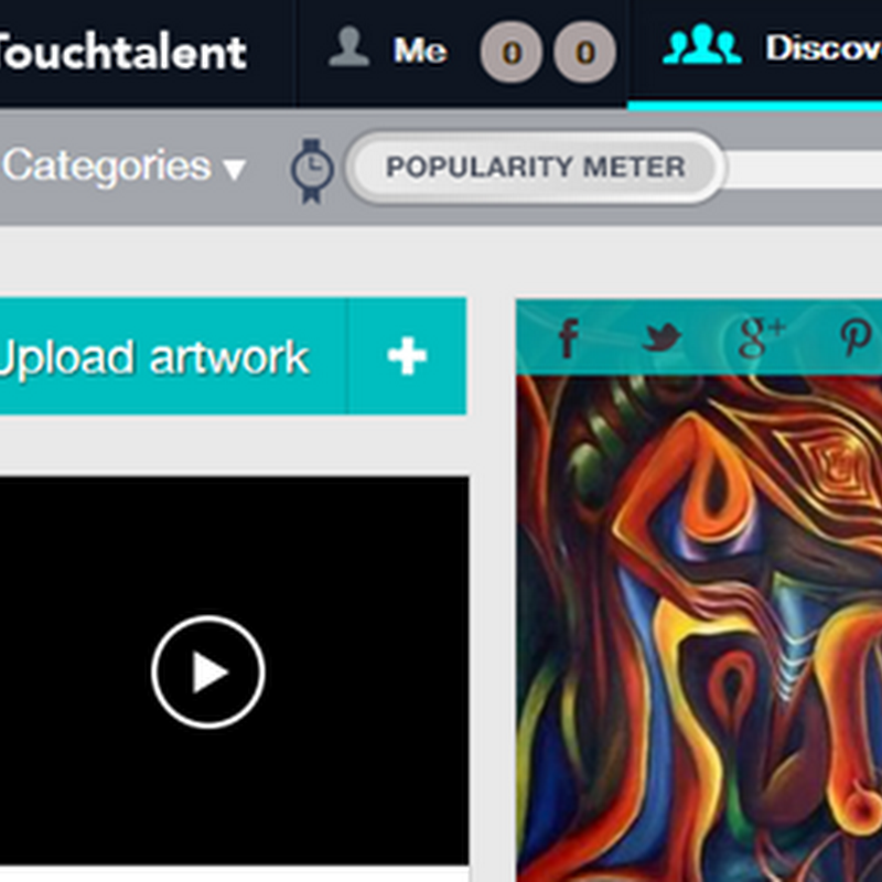 Touchtalent – Social Network for Artists to Promote and Sell Art