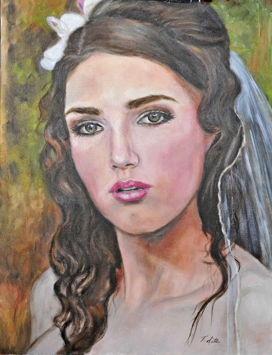 bride painting terry sita