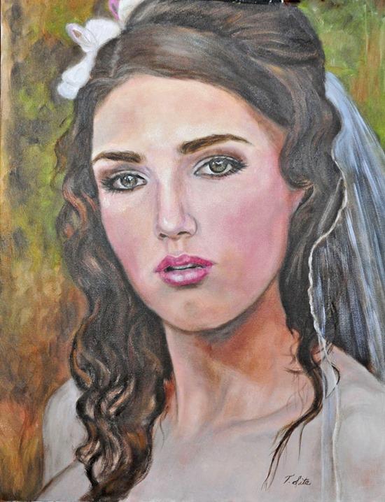 bride painting terry sita