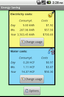 Screenshot of Energy Saving