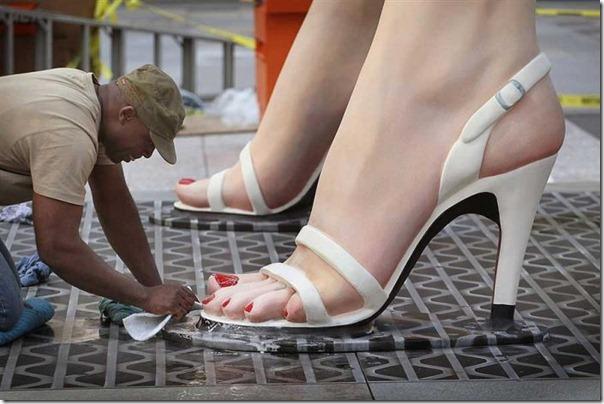 Escultura gigante de Marilyn Monroe em Chicago (1)