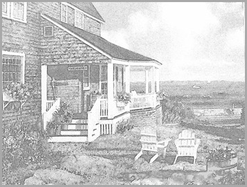 NE Cottage BW Sketch