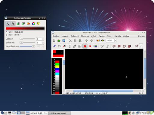 mtPaint es un buen editor gráfico con funciones básicas