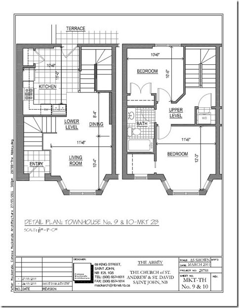 Abbey st andrew inc townhouse style units for 4 unit townhouse plans