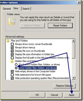 hidden file ใน windows