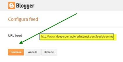 feed-configurazione