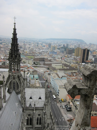 Quito as seen from the Basilica.