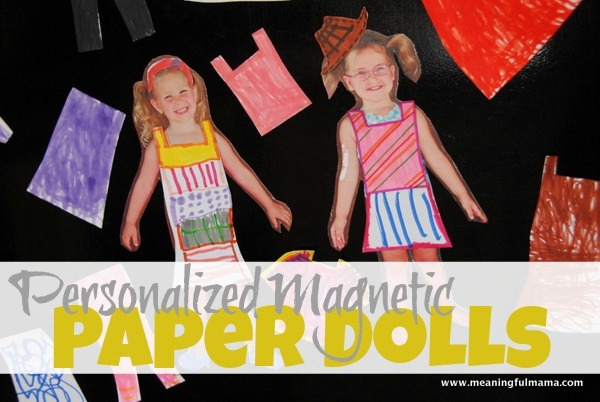 Personalized Magnetic Paper Dolls from Child's Picture