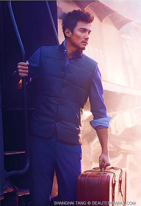 SHANGHAI TANG SPRING SUMMER 2012 Shirt Padded Down vest pant HU BING MENS COLLECTION