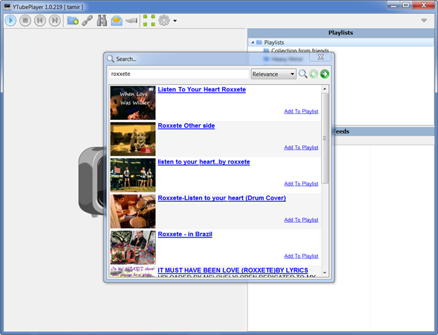 YTubePlayer Interface